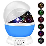 decorating ideas for bedrooms Projection Light Night Lighting Lamp Star Projector lamp with 8 Multicolor 360°Rotation with 6.5ft USB Cable,Best Lamp for Man Woman Children Kids Bedroom Blue