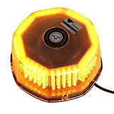 T Tocas(TM) 240 LED Warning Flashing Lights Mini Bar with Cigarette Lighter Strong Magnetic Base for Auto BOAT, Amber DC12V