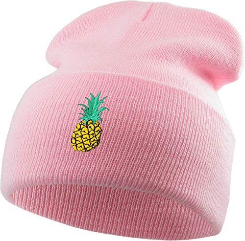 KBSW-E003 LPK Embroidered Beanie Winter Ski Hat Cuffed Skull Cap Knit