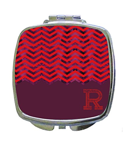 Pink-Purple Mesh Grunge Chevrons Rosie Parker Inc. CUSTOMIZABLE Compact Mirrors- Square - Parker Mesh
