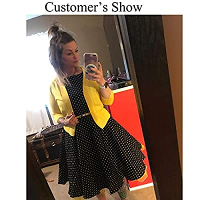 AAMILIFE Women's 3/4 Sleeve Cropped Cardigans Sweaters Jackets Open Front Short Shrugs for Dresses at Women's Clothing store