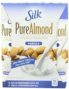 Silk Pure Almondmilk Vanilla, 8-Ounce Aseptic Cartons (Pack of 24)