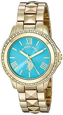 U.S. Polo Assn. Women's USC40076 Analog Display Analog Quartz Gold Watch