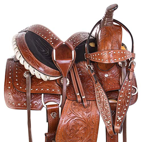 (AceRugs Little Cowboy Western Roping Leather Horse Pony Saddle Youth Kids TACK Set 10