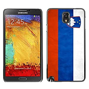 Shell-Star ( National Flag Series-Slovenia ) Snap On Hard Protective Case For Samsung Galaxy Note 3 III / N9000 / N9005