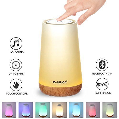 Kainuoa Touch Control Table Lamp, Led Smart With Bluetooth Speaker Control Night Light And Dimmable Color Control LED Light Bedside Lamp For Women, Teens, Kids, Children, Sleeping Aid