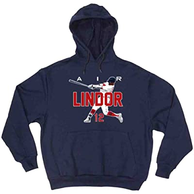 """The Silo NAVY Cleveland Francisco Lindor """"AIR"""" Hooded Sweatshirt"""