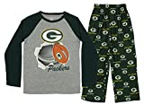 OuterStuff NFL Youth Boys Green Bay Packers Two Piece Pajama Set, Green