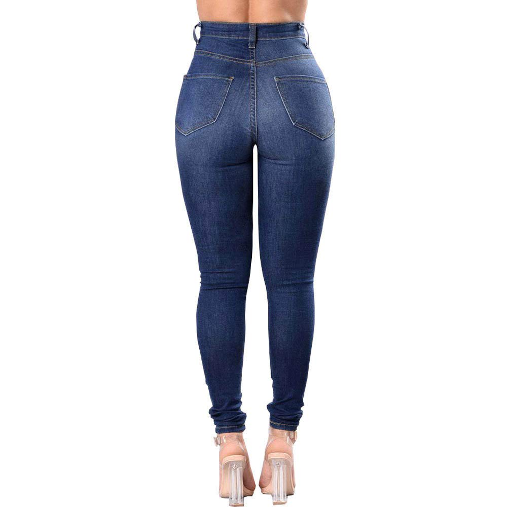 eb22ca58d abcnature ❤ Women Plus Size Ripped Skinny Jeans, Slim Jeans Denim Sexy Trendy  Jeans at Amazon Women's Jeans store