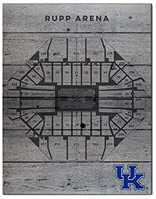 "KH Sports Fan 1021101285S 16""x20"" Kentucky Wildcats Basketball Seating Chart Collage Pallet Pride Plaque"