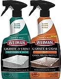 Weiman Granite Cleaner and Polish (Bundle) for Granite Marble Soapstone Quartz Quartzite Slate Limestone Corian Laminate Tile Countertop