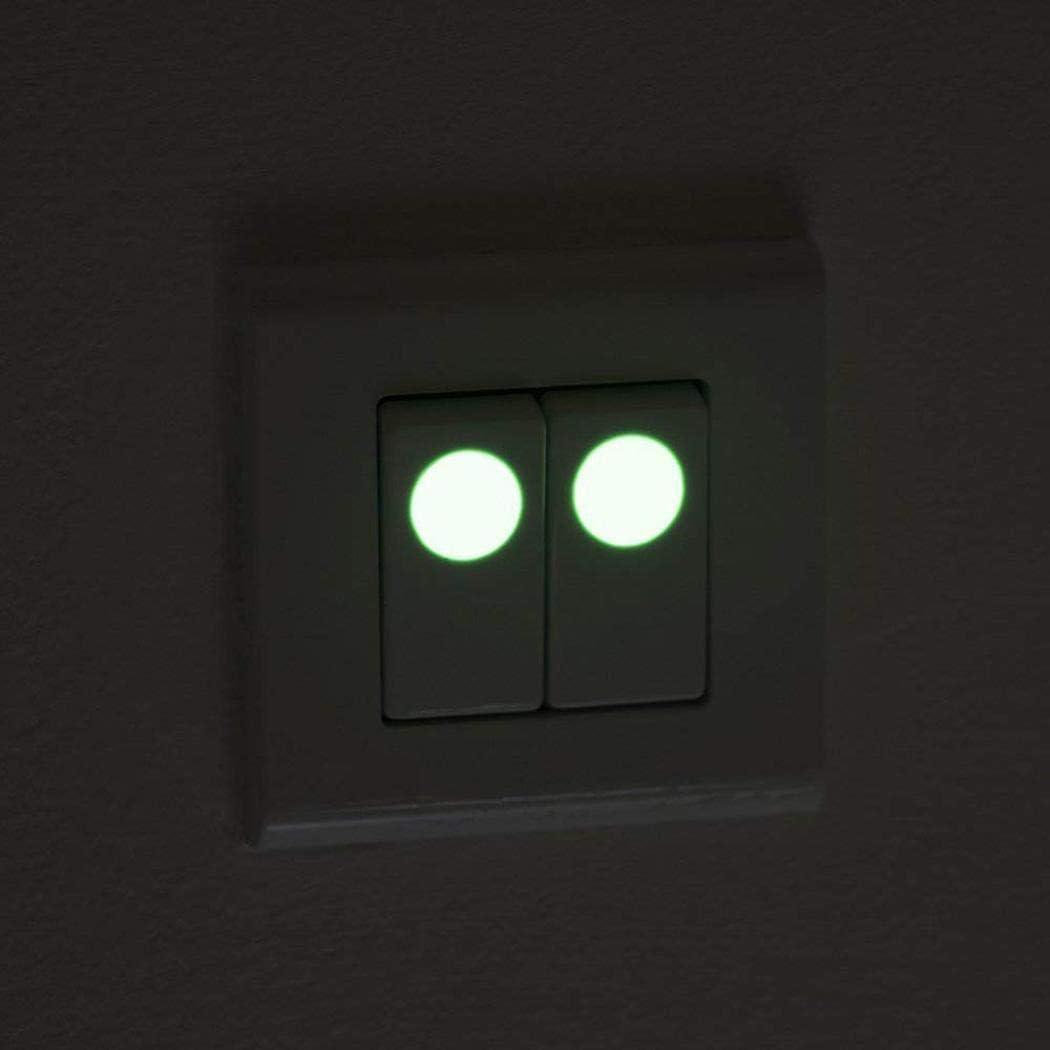 Adolenb 407 unids//Pack Luminoso Punto Sala de Estar decoraci/ón de la habitaci/ón de los ni/ños Fluorescente Etiqueta de la Pared Pegatinas de Pared