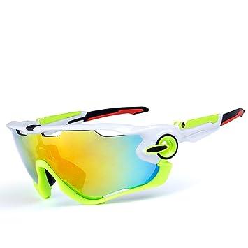 CDSS Gafas de sol deportivas polarizadas Hombre/mujer Gafas de ciclismo Viene con 3 lentes
