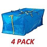 Ikea Frakta Storage Bag,Extra Large - Blue -- 4 PACK