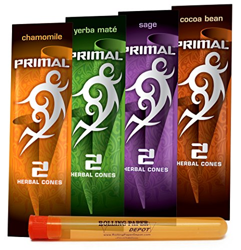 Primal Herbal Cones (Non-Tobacco and Nicotine FREE) Herbal Smoking Cones -