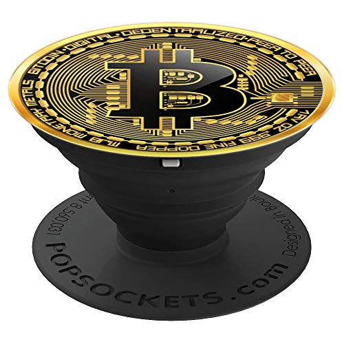 Bitcoin Cryptocurrency Crypto - PopSockets Grip and Stand for Phones and Tablets