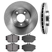 CRK13507 FRONT 293 mm Premium OE 5 Lug [2] Brake Disc Rotors + [4] Metallic Brake Pads