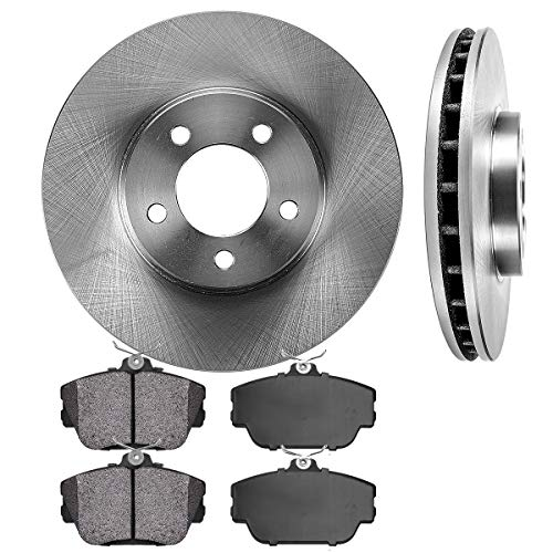 FRONT 293 mm Premium OE 5 Lug [2] Brake Disc Rotors + [4] Metallic Brake Pads