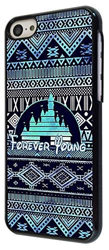 559 - Cool Vintage Aztec Ornate Forever Young Funky Design iphone 5C Coque Fashion Trend Case Coque Protection Cover plastique et métal - Noir