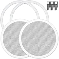 Reliable Hardware Company RH-4002-10-2-A White Universal Surface Mount 10 Speaker Covers, Pair
