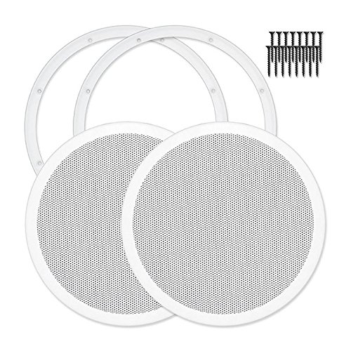 Reliable Hardware Company RH-4002-10-2-A White Universal Surface Mount 10'' Speaker Covers, Pair by Reliable Hardware Company
