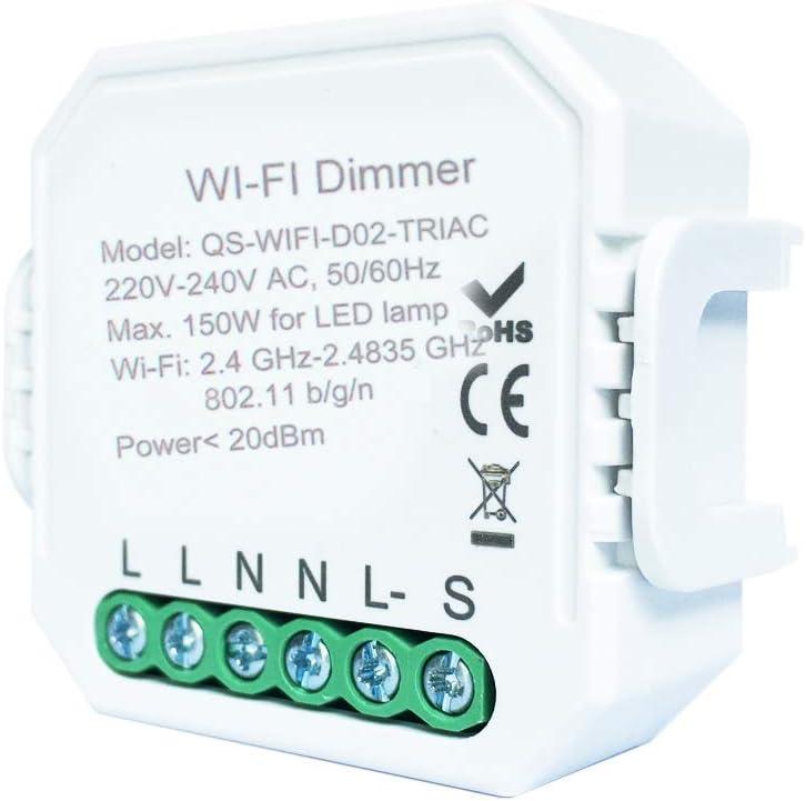 Interruptor de luz Inteligente DIY módulo Smart Life/Tuya App Mando a Distancia, Funciona con Alexa Echo Google Home 1/2 Way 1C dimmer