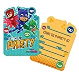 Pj Masks Pack of 6 Party Invites with Envelopes