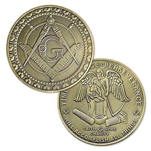Masonic Coin Freemasons Master Mason Blue Lodge Commemorative Gift
