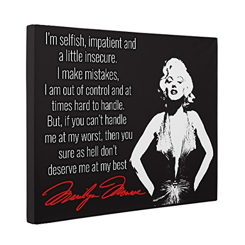 Marilyn Monroe Motivational Quote CANVAS Wall Art Home Décor