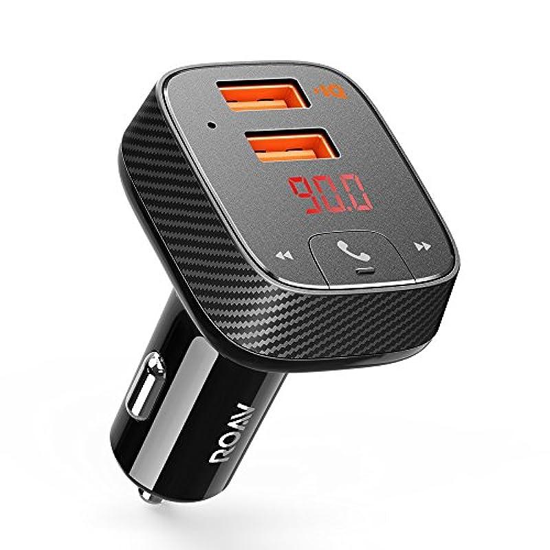 Anker Roav FM Transmitter F2(FM트랜스미터 탑재 19.5W 2포토 카 차저(Charger))【Bluetooth 4.2 / 카프(calf) 《인다》 / 핸드프리 통화 대응 / PowerIQ탑재】
