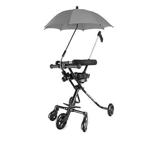 Amazon.es: HSDDA Carro de bebé Ligero Bebé de Tres Ruedas ...