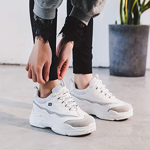Amazon.com: HuWang Women Sneakers White Black Pink Flat Platform Womens Casual Shoes Ladies Basket Femme Trainers Zapatillas Mujer: Garden & Outdoor