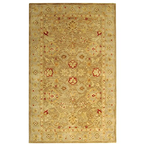 Safavieh Antiquities Collection AT822B Handmade Traditional Oriental Brown and Beige Wool Area Rug (5' x 8')