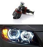Autolizer H8 64W CREE LED Angel Eye Halo Ring Bulbs 6000K Xenon White BMW Headlights Lamps Marker for BMW E60 E61 E90 E92 E70 E71 E82 E89 1 3 5 X5 X6 Z4 (Black)