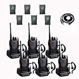 BaoFeng BF-888s 2 Way Radio Walkie Talkies with 12 1500mah Li-ion Batteries Long Range Rechargeable Two Way Radio (6 Pack)