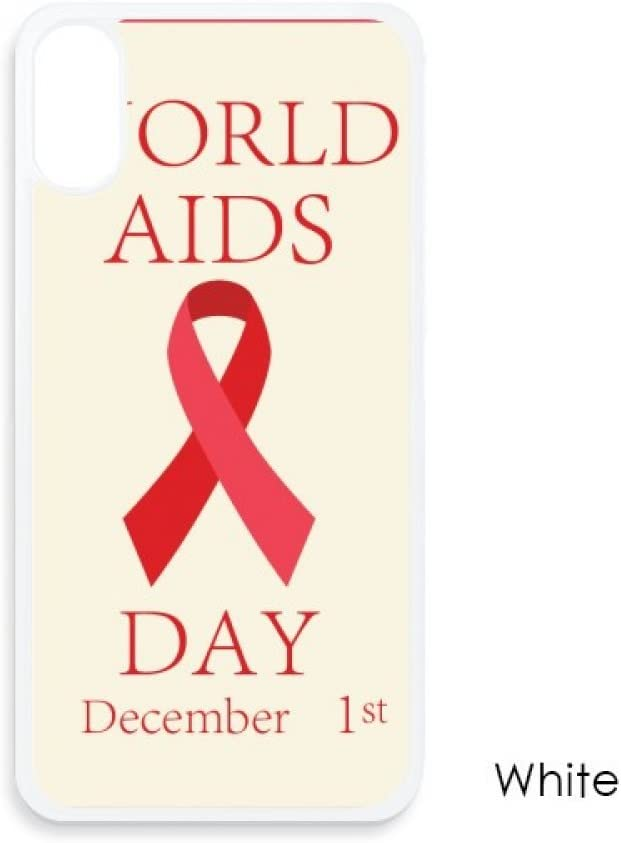 AIDS Day 1st December Red Ribbon HIV Symbol for iPhone X Cases White Phonecase Apple Cover Case Gift