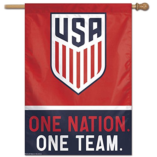 USA One Nation One Team Soccer Banner Flag and Banner Flag (Soccer Flag Team)