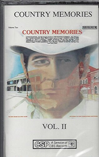 Johnny Cash - Country Memories Vol. Ii Tommy Cash Rise And Shine (Audio Cassette) - Zortam Music