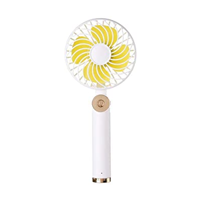 Wind source Nuevo Ventilador de Mano, Mini portátil al Aire Libre, portátil, Escritorio, Red de cifrado Recargable, Cubierta giratoria, Ventilador Plegable (Color : White): Hogar