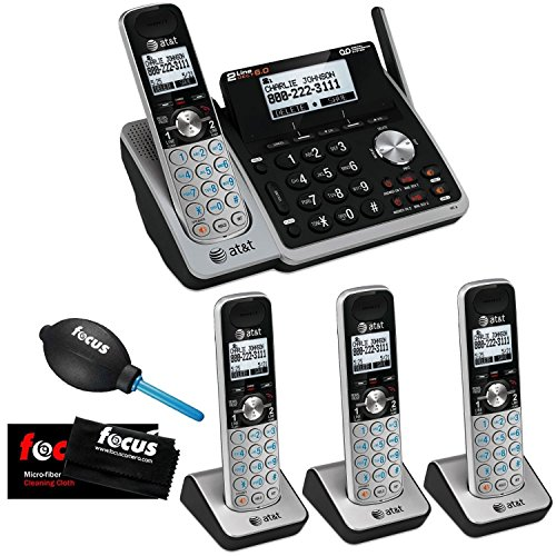 1 Line Double Line (AT&T (TL88102) Dect 6.0 1-Handset 2-Line Landline Telephone Bundle with 3 Handsets and Dual Caller ID/Call Waiting)