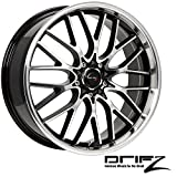 rims for 2014 jeep cherokee - Drifz Vortex 18x8 Machined Black Wheel / Rim 5x100 & 5x4.5 with a 35mm Offset and a 73.00 Hub Bore. Partnumber 302MB-8801835