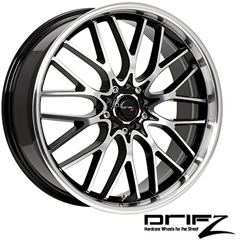 - Drifz Vortex 18x8 Machined Black Wheel / Rim 5x4.5 & 5x120 with a 35mm Offset and a 74.10 Hub Bore. Partnumber 302MB-8805735