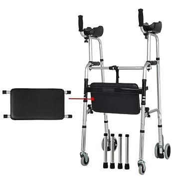 Andador de aluminio ligero, con ruedas para caminar, plegable ...