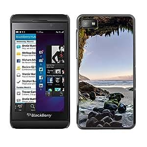 Be Good Phone Accessory // Dura Cáscara cubierta Protectora Caso Carcasa Funda de Protección para Blackberry Z10 // Cave Sunset Ocean Blue Sand Summer