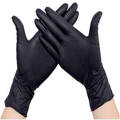 New Star Tattoo 10pcs Disposable Tattoo&Piercing Gloves Black Medium Nitrile Gloves