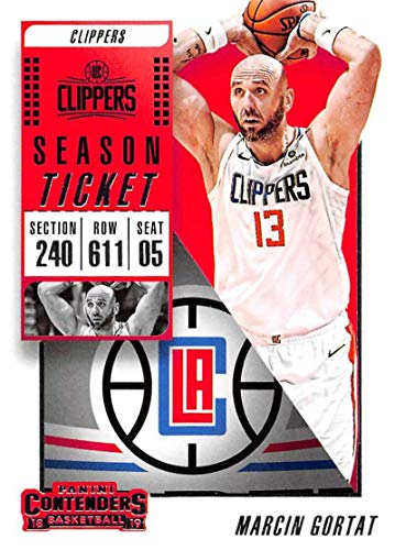 92398fb5551 2018-19 Panini Contenders Season Ticket #98 Marcin Gortat Los Angeles  Clippers NBA Basketball Trading Card