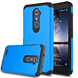 zte imperial 2 cases - ZTE Zmax Pro Case, ZTE Grand X Max 2 Case, ZTE Imperial Max Case, Venoro Shockproof Slim Anti Scratch Hybrid Dual Layer Armor Defender Protective Phone Case Cover for ZTE Z981 / Z988 (Blue)