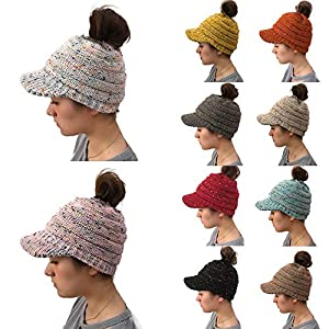 1c5247cc0e5 Ponytail Messy Bun BeanieTail Soft Winter Knit Stretchy Beanie Hat ...