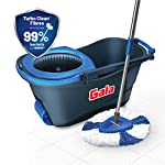 Gala Turbo Spin Mop that removes over 99% bacteria, with Easy wheels, Triangular head