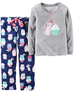 Cupcake Print PJ Set (Toddler/Kid)